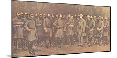 Robert E. Lee and His Generals-Mathews-Mounted Print