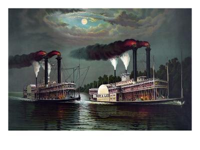 Robert E. Lee Steamboat Company-William Donaldson-Art Print