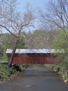 Simpson Creek Covered Bridge, Harrison County, WVA by Robert Finken