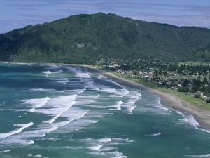 Aerial View of Surf Beach at Pauanui on East Coast, South Auckland, New Zealand by Robert Francis