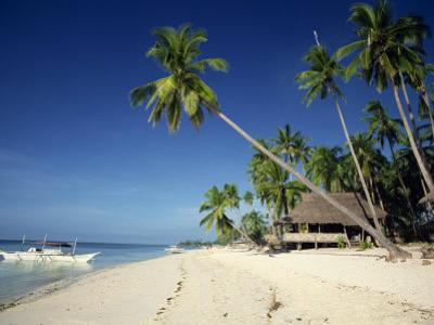Alona Beach on the Island of Panglao Off the Coast of Bohol, in the Philippines, Southeast Asia by Robert Francis