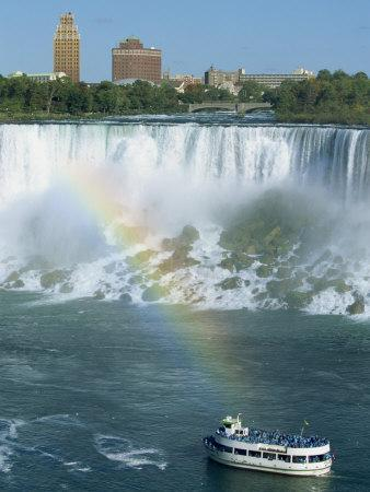American Falls on the Niagara River That Flows Between Lakes Erie and Ontario, Canada