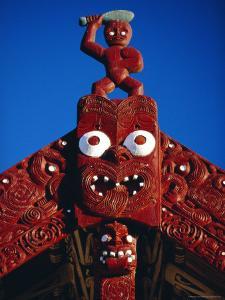 Carved Portal of a Church, Maori Village, Whakarewarewa Thermal and Cultural Area in Rotorua by Robert Francis