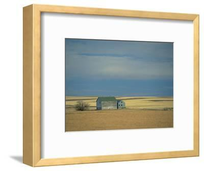 Farm Buildings on the Prairie, North Dakota, USA