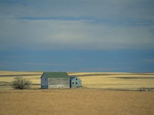 Farm Buildings on the Prairie, North Dakota, USA by Robert Francis