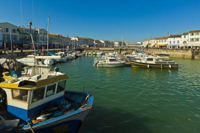 Fishing boats and yachts in the quays at this north coast town, Saint Martin de Re, Ile de Re, Char