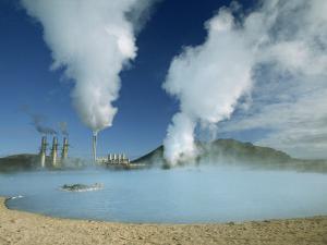 Geo-Thermal Power Plant in the Svartsengi Area, Svartsengi, Iceland, Polar Regions by Robert Francis