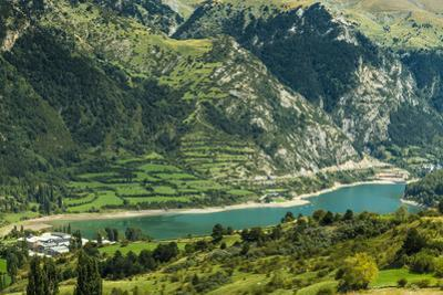 Lake Lanuza reservoir in the scenic upper Tena Valley of the Aragon Pyrenees, Lanuza, Sallent de Ga