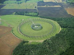 Large Circular Aerial at Raf Chicksands, Bedfordshire, England, UK by Robert Francis