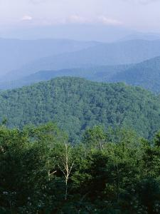 Looking Over the Appalachian Mountains from the Blue Ridge Parkway in Cherokee Indian Reservation by Robert Francis