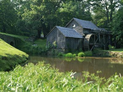 Mabry Mill, Restored and Working, Blue Ridge Parkway, South Appalachian Mountains, Virginia, USA