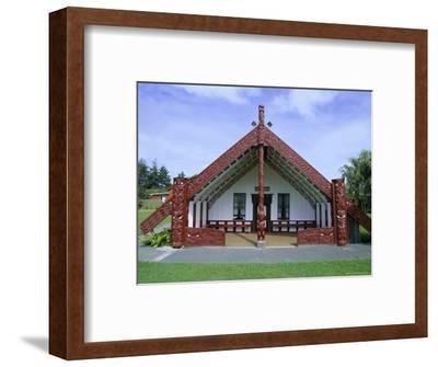 Maori Marae, or Meeting House, at Putiki, North Island, New Zealand