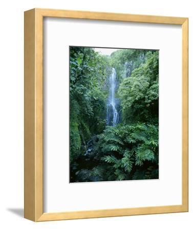 One Hundred Foot Wailua Falls Near Oheo, Hana Coast, Maui, Hawaii, USA