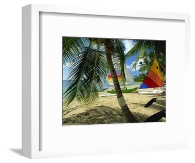 Sailboats on Mullins Beach, Near the King's Beach Hotel, St. Peter Parish, Barbados, West Indies