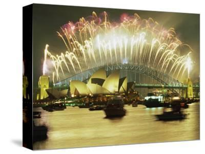 Spectacular New Year's Eve Firework Display, Sydney, New South Wales, Australia, Pacific
