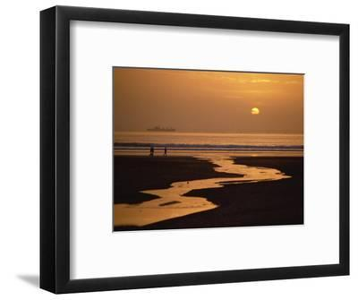 Sunset, Agadir Beach, Agadir, Morocco, North Africa, Africa