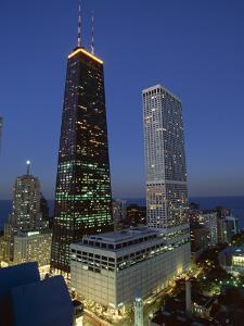 The John Hancock Center on Left, and the Old Water Tower in Low Centre, Chicago by Robert Francis