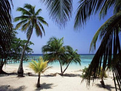 West Bay at the Western Tip of Roatan, Largest of the Bay Islands, Honduras, Caribbean