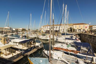 Yachts moored at the Quai de Bernonville in this north coast town, Saint Martin de Re, Ile de Re, C