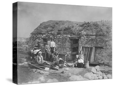 An Evicted Family at Derrybeg, County Donegal, Ireland, Late 1880S