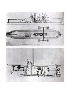 Steamboat and Submarine Plans by Robert Fulton