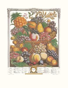 Twelve Months of Fruits, 1732, October by Robert Furber