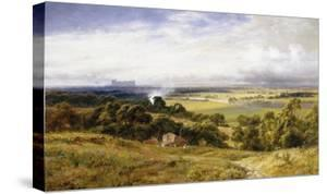 A View of Runnymede with Windsor Castle, England by Robert Gallon
