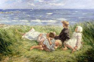 Sea Gulls and Sapphire Seas, 1912 by Robert Gemmell Hutchison