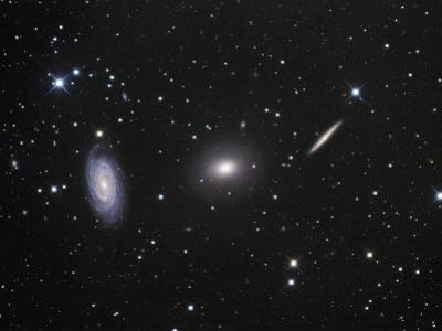 Ngc 5985, 5982, and 5981 Galaxies in Draco by Robert Gendler