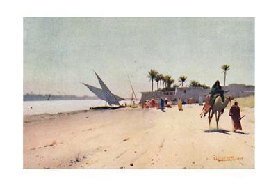 'A Nile Village', c1880, (1904)