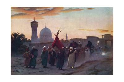 'A Wedding Procession at Menzala: The Home-Coming of the Bride', c1880, (1904)