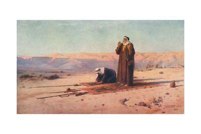 'Prayer in the Desert', c1880, (1904)