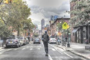 Atlantic Ave Skateboard by Robert Goldwitz