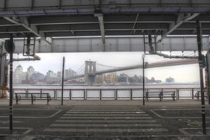 Brooklyn Bridge FDR by Robert Goldwitz
