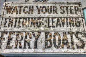 Ferry Boats Sign by Robert Goldwitz