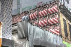 Flag Car Doors Brooklyn by Robert Goldwitz