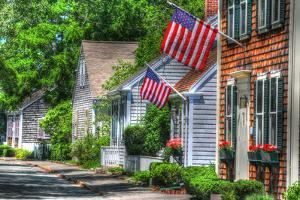 Flag Draped Lane by Robert Goldwitz
