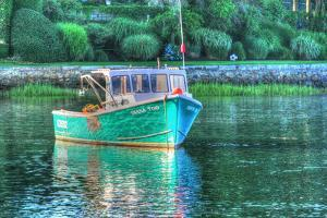 Green Hull Moored by Robert Goldwitz