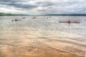 Kayaks on the Hudson by Robert Goldwitz