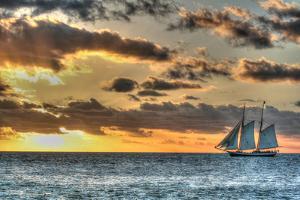 Key West Clipper Sunset I by Robert Goldwitz