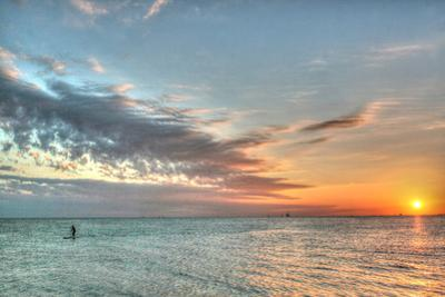 Key West Paddleboard Sunset by Robert Goldwitz