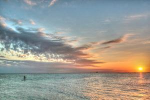 Key West Paddleboard Sunset by Robert Goldwitz