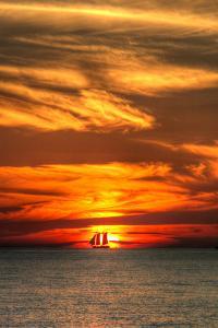 Key West Sunset Vertical II by Robert Goldwitz