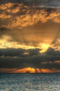 Key West Vertical with Schooner by Robert Goldwitz