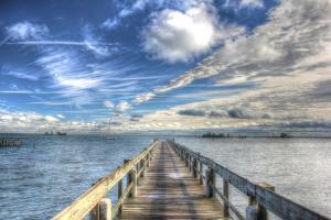 Long Pier Sebastian Florida by Robert Goldwitz