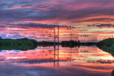 Powerline Sunrise by Robert Goldwitz