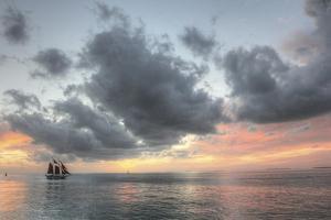 Rosette Sunset With Clipper by Robert Goldwitz