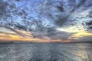 Shrimper Sunset by Robert Goldwitz