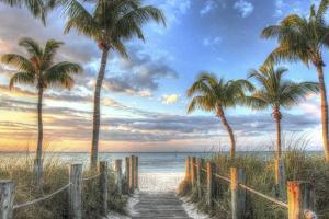 Smathers Beach Boardwalk by Robert Goldwitz