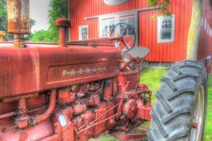 Tractor and Barn by Robert Goldwitz